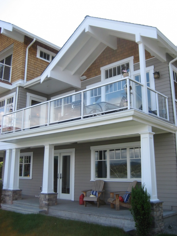 Exterior Balcony Glass Railing Design