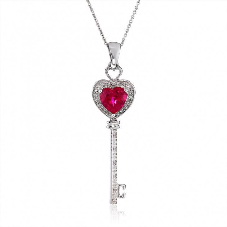 Key Diamond Pendant