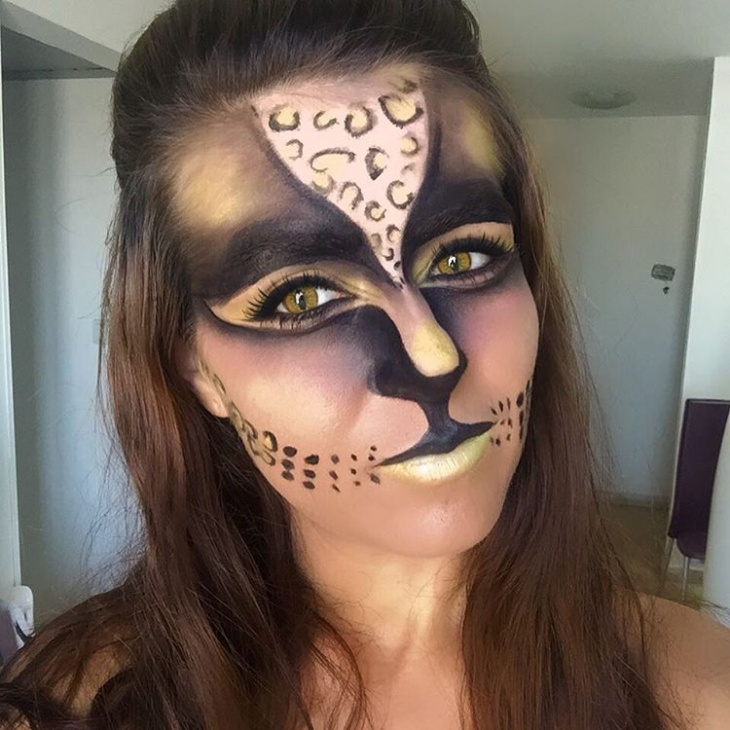 Tiger Face Black Makeup