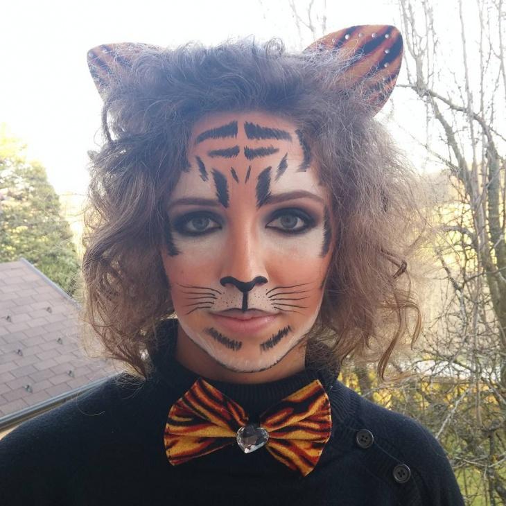 classy tiger face makeup
