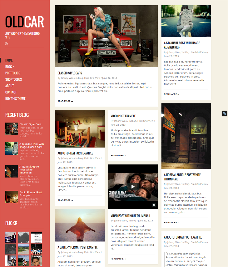 blog grid wordpress theme