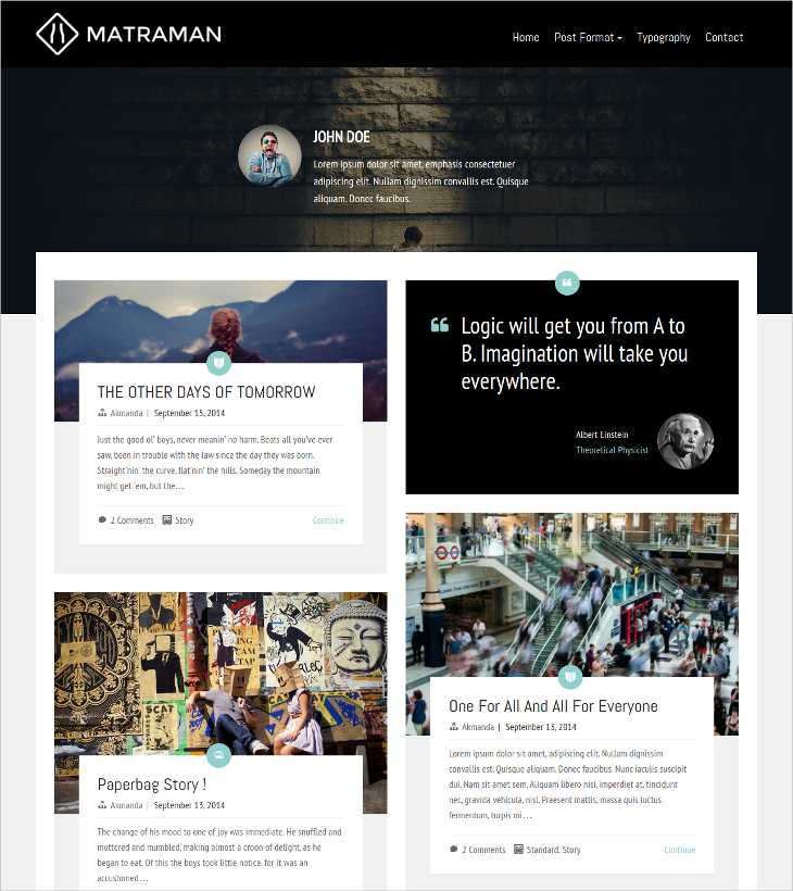 handsome grid blog wordpress theme