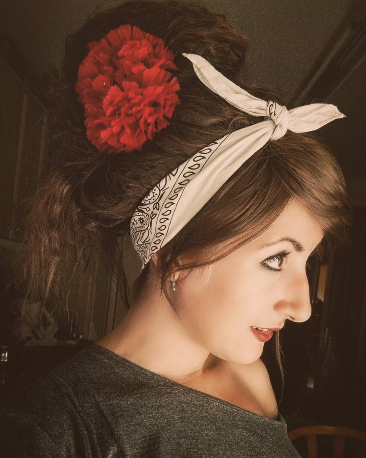 Rockabilly Bandana Hairstyle Design