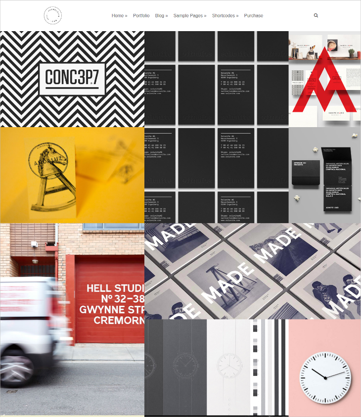 clean creative multipurpose grid portfolio theme
