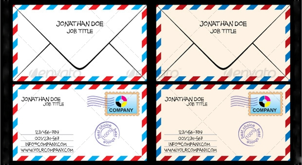 business card envelope design