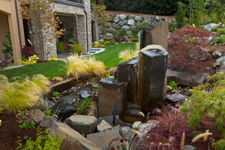 outdoor rock fountain