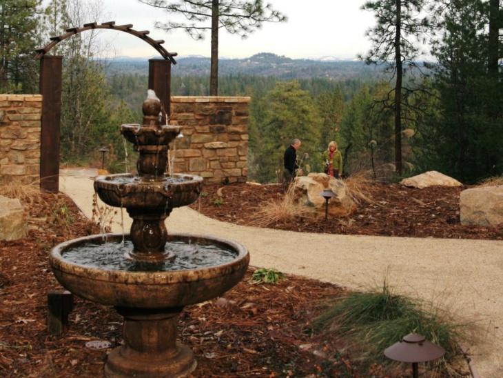 Backyard Water Fountain Idea