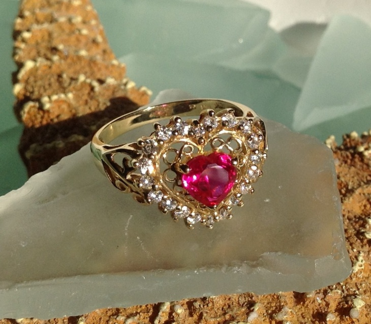 17 Ruby Heart Ring Designs Trends Models
