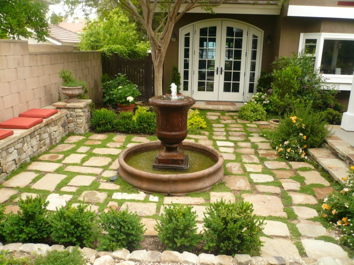 outdoor freespace fountain design