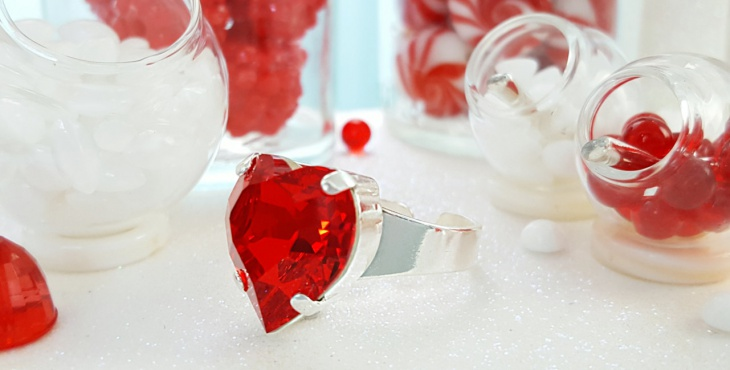 large ruby heart ring