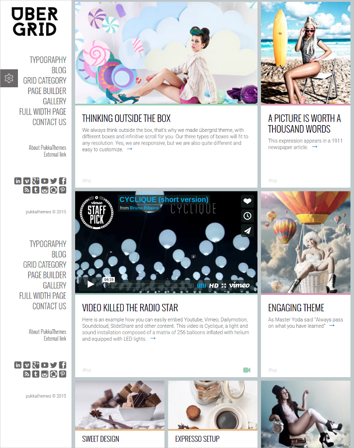 responsive grid wordpress theme