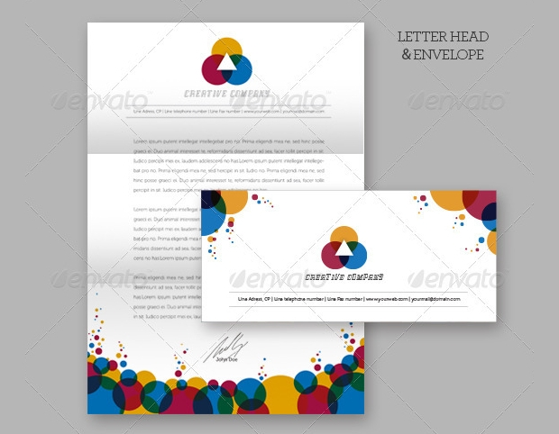 creative company envelope design
