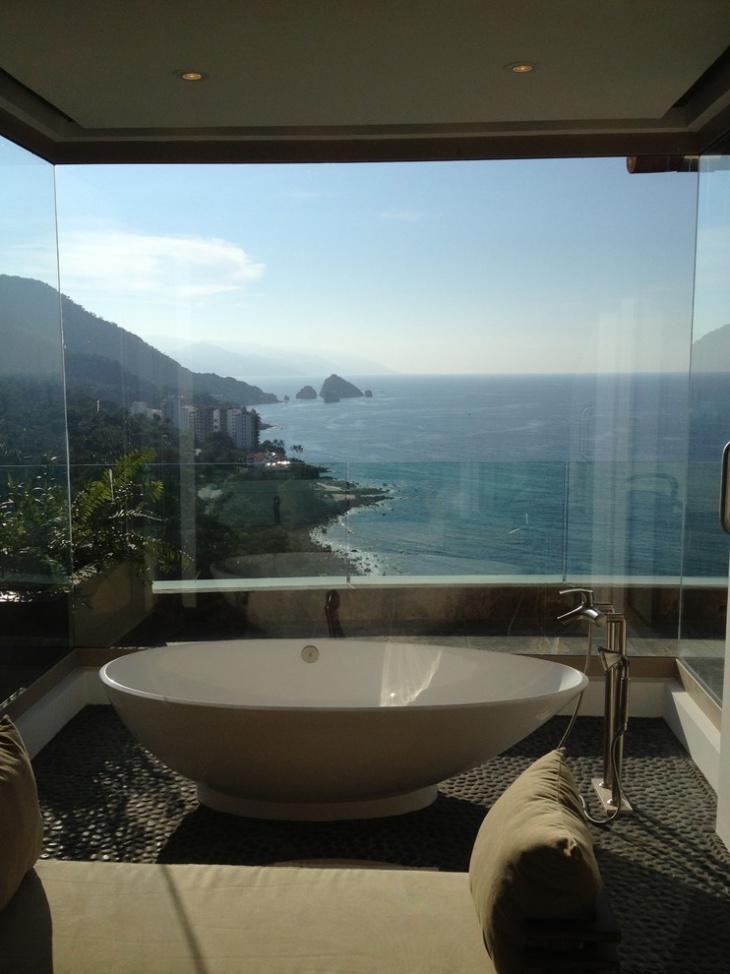 tropical penthouse bathroom