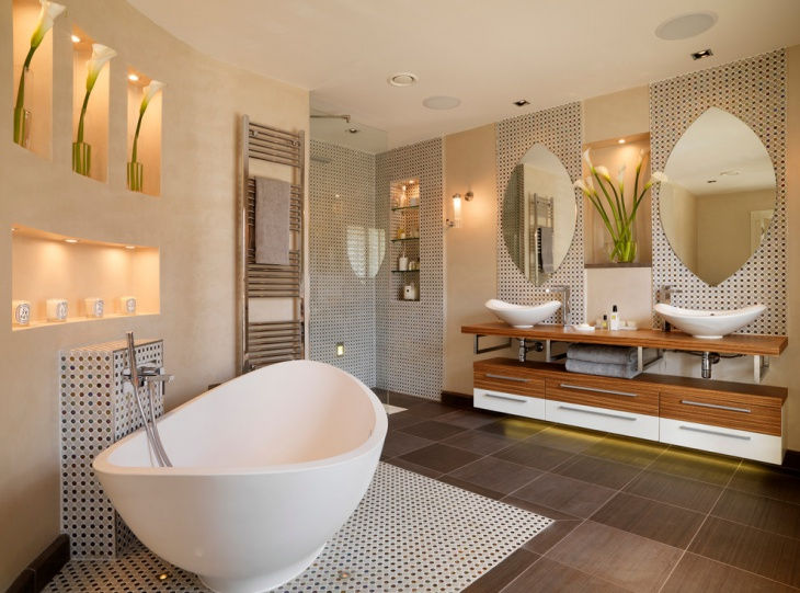 transitional penthouse bathroom idea