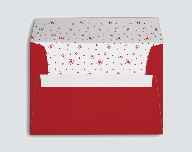 printable christmas envelope design