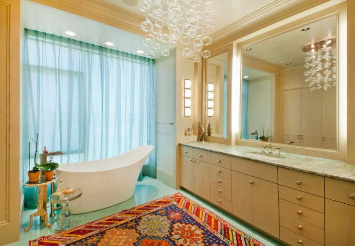 penthouse bathroom rug idea