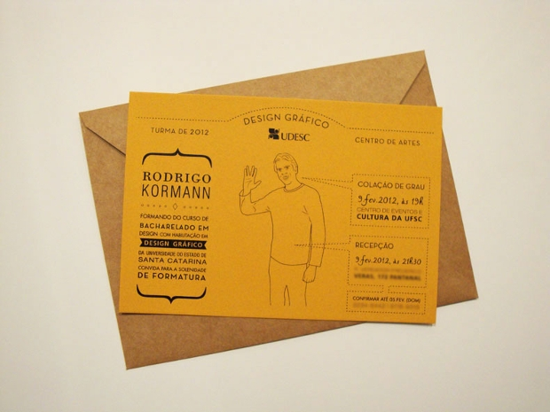 graduation invitation envelope design