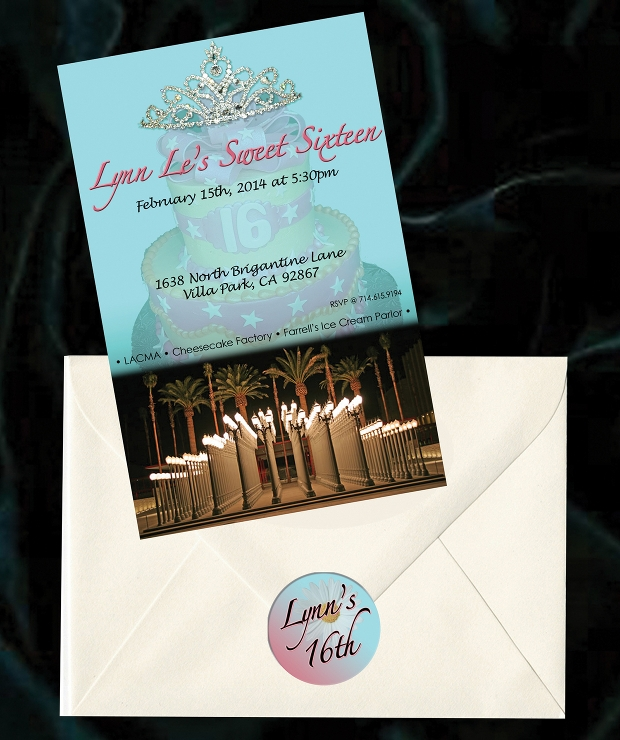 birthday invitation envelope design
