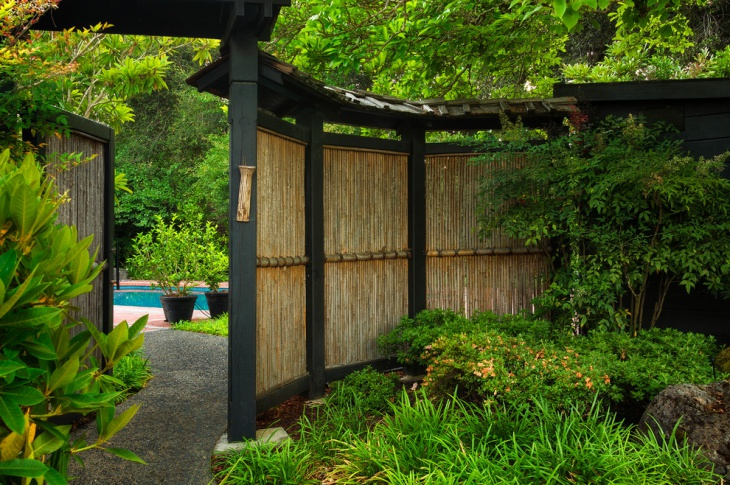 Bamboo Garden Fence Idea