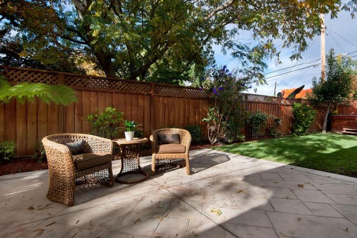 Cedar Garden Fence Idea