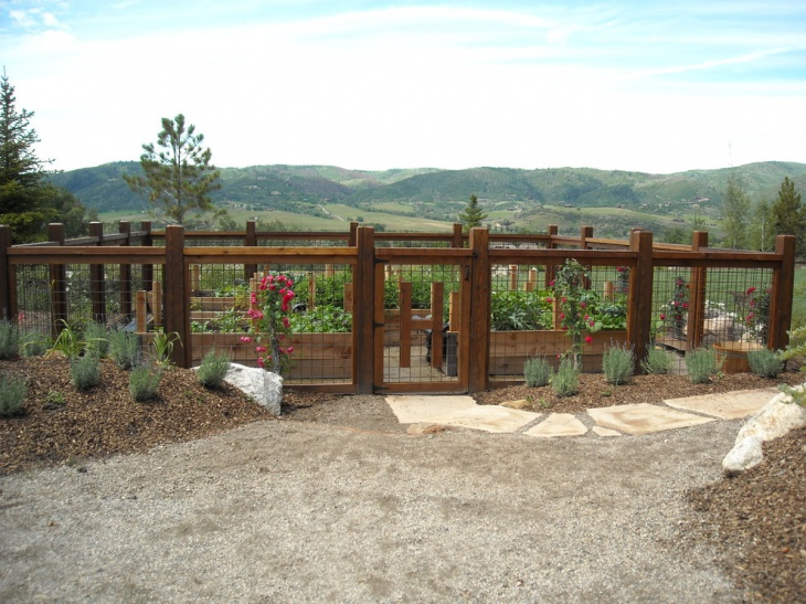 Exterior Garden Fence Idea