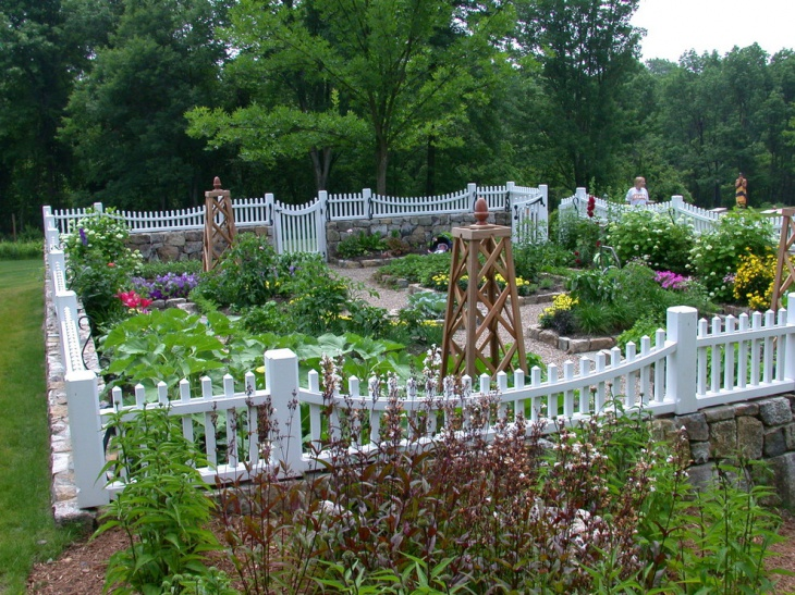 White Garden Fence Design
