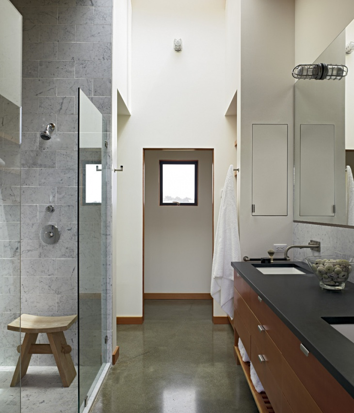 17+ Concrete Bathroom Floor Designs, Ideas