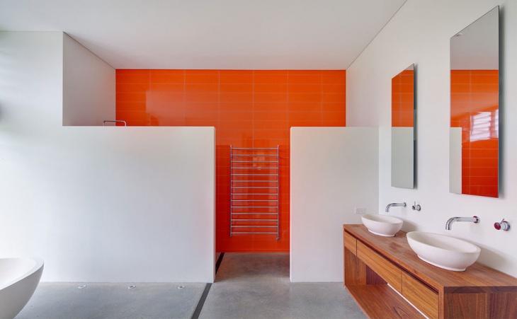 concrete shower floor idea