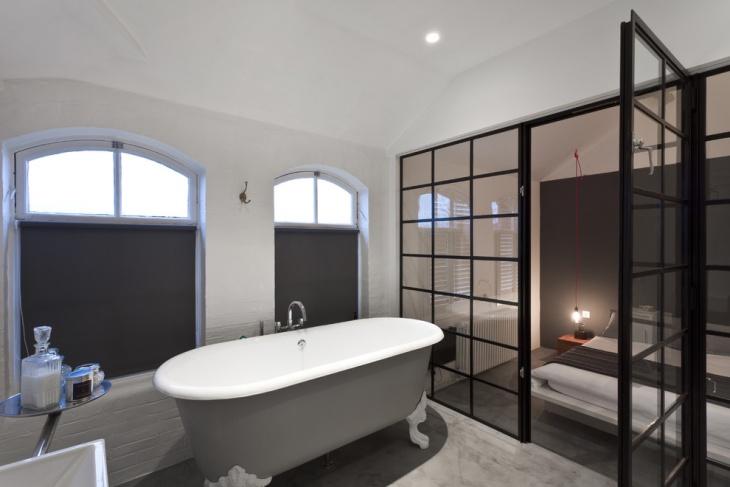 concrete bathtub floor design