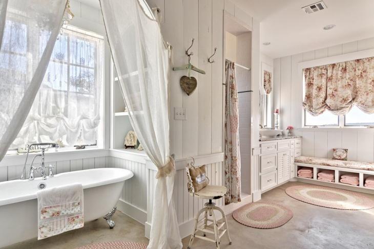 decorative concrete bathroom floor