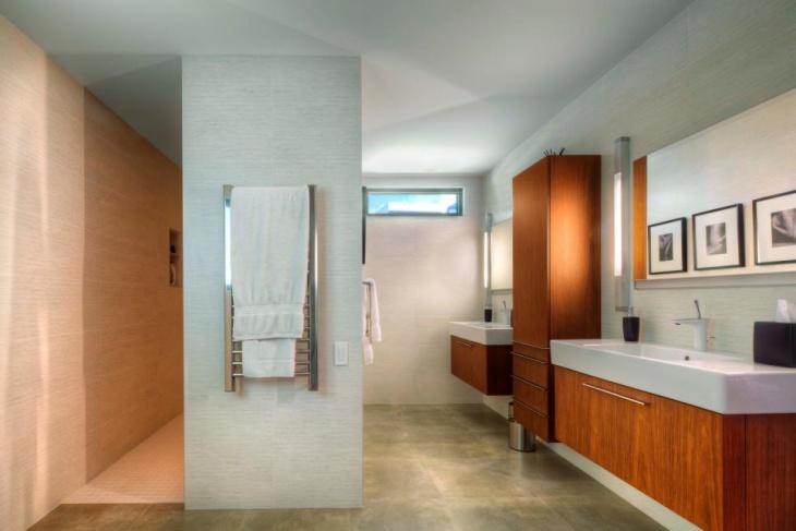 bathroom vanity concrete floor
