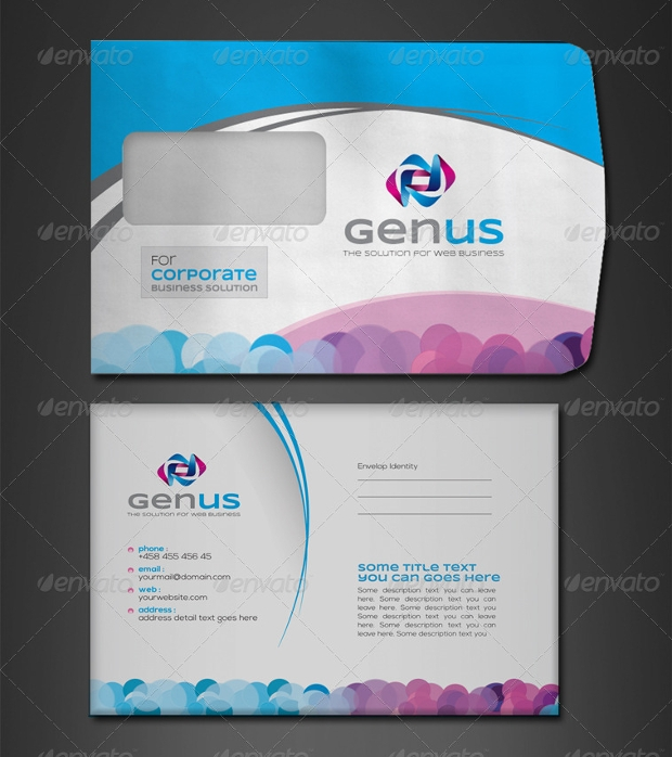 creative corporate envelope design