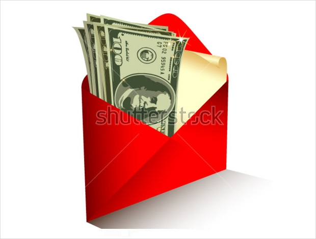 money gift envelope design