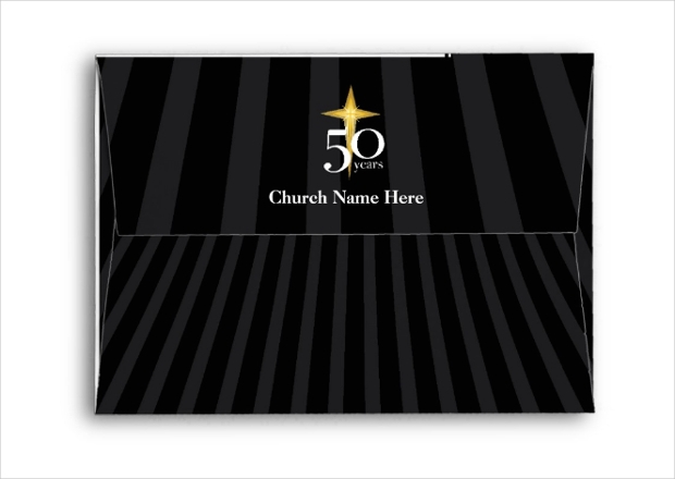 church anniversary envelope design