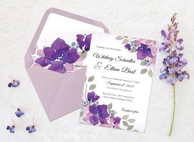 square wedding envelope design