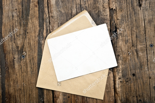 blank card envelope design