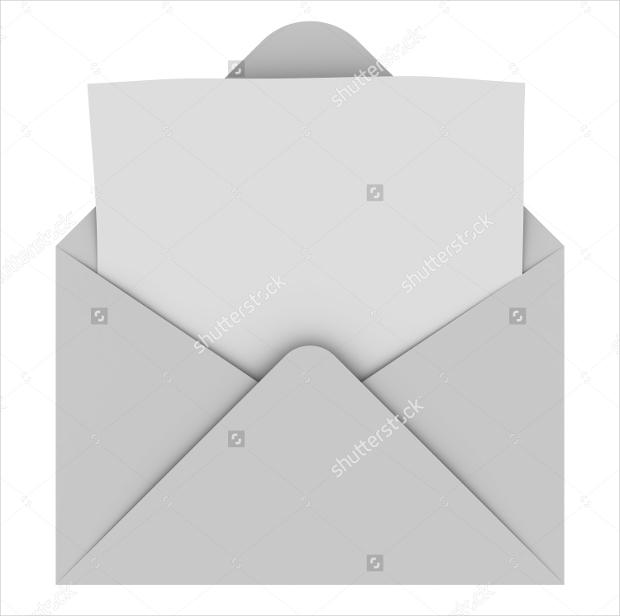 blank letter envelope design