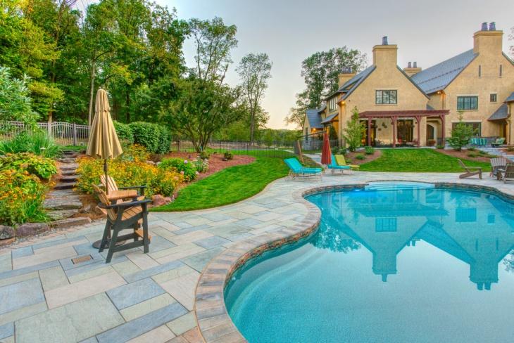 stone pool tiles design