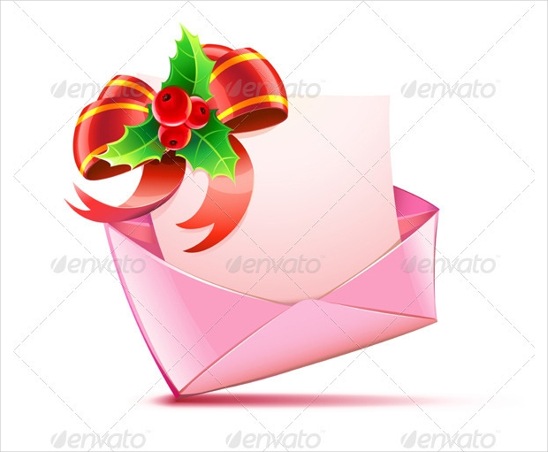 christmas card envelope design