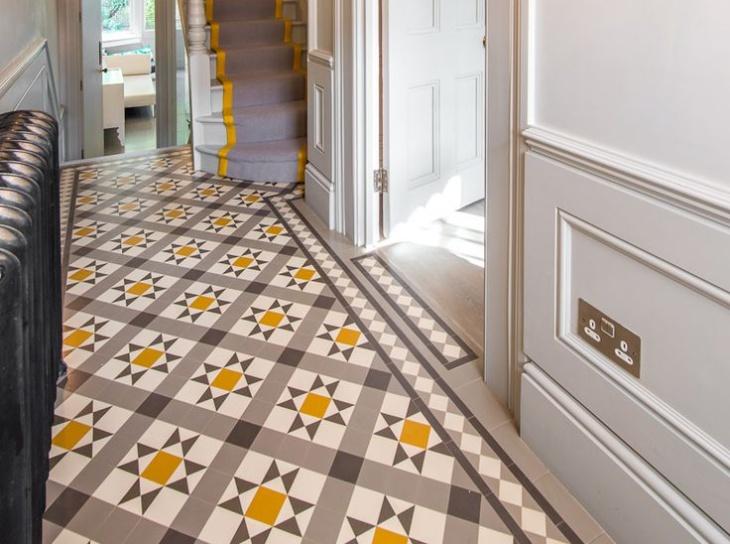 victorian geometric tiles design
