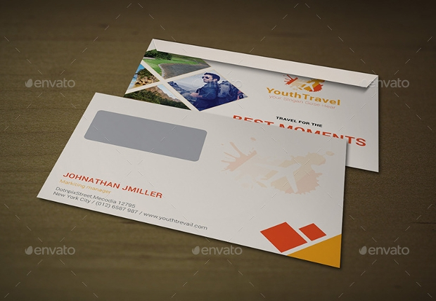 travel agency business envelope