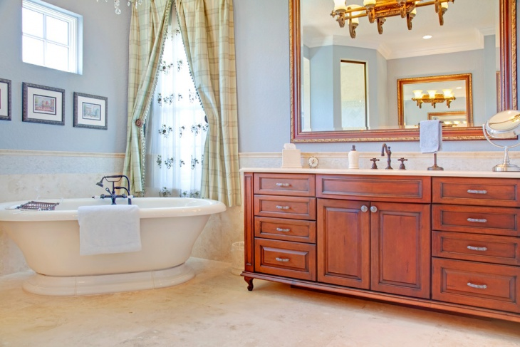 French Country Interior Bathtub Design