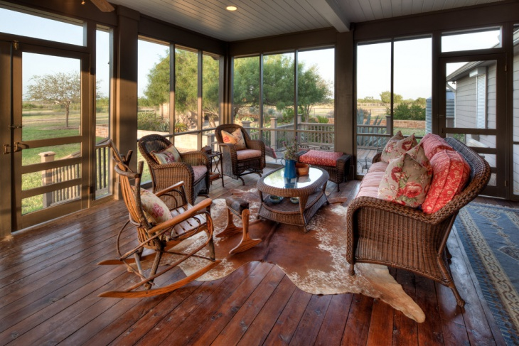 Country Interior Porch Idea