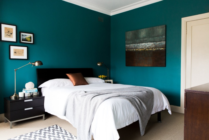 dark teal bedroom idea