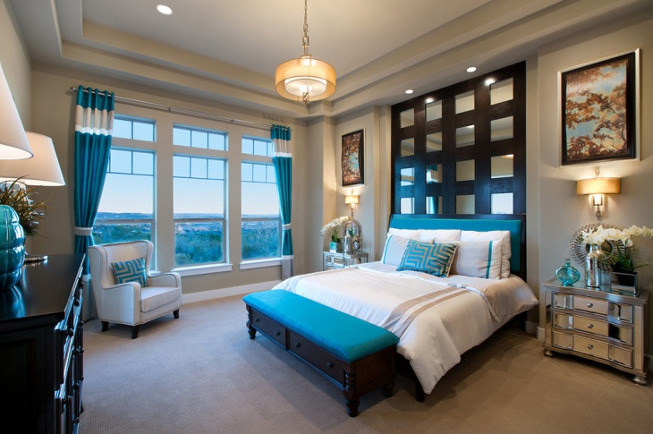 Teal Master Bedroom Idea