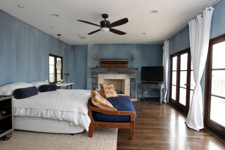 Rustic Teal Bedroom Design