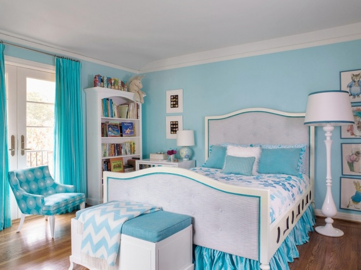 Vintage Teal Bedroom