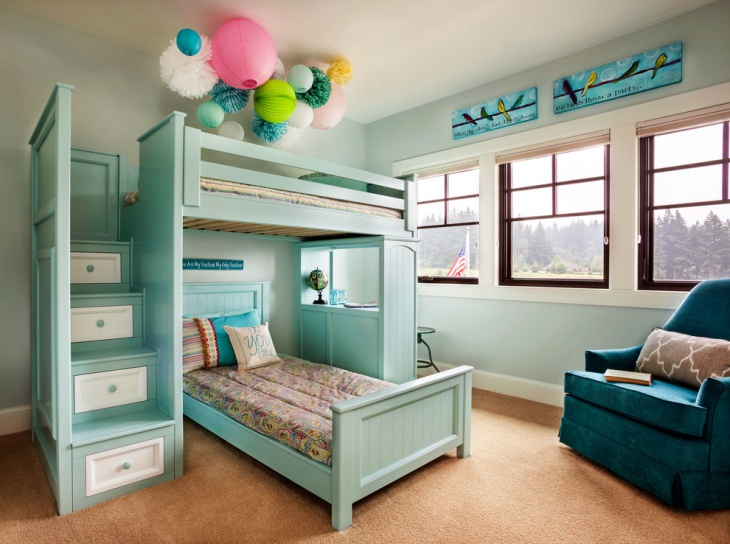 Transitional Teal Bedroom Design