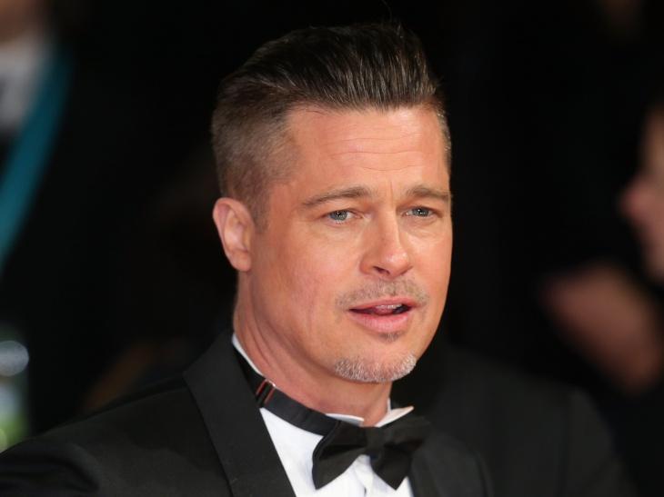 brad pitt side shaved hair design for men