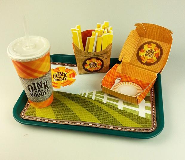 fast food package design